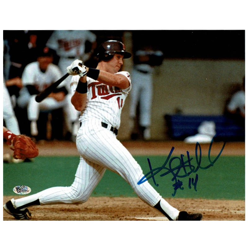 Kent Hrbek Autographed Minnesota Twins 8x10 Photo White Jersey
