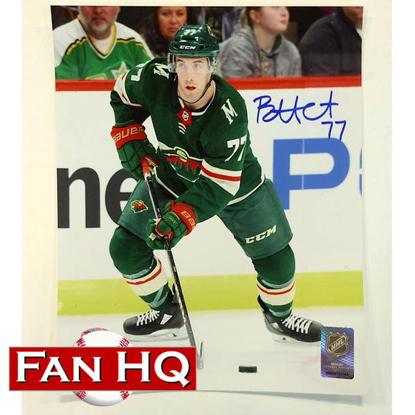 Brad Hunt Autographed Minnesota Wild 8x10 Photo Action