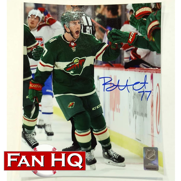 Brad Hunt Autographed Minnesota Wild 8x10 Photo Celly