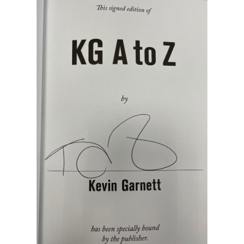 Kevin Garnett Autographed Book - KG: A to Z: An Uncensored Encyclopedia of Life, Basketball, and Everything in Between