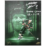 Mikko Koivu Signed and Inscribed Minnesota Wild 8x10 Canvas Print