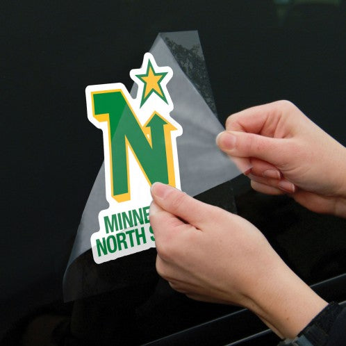 "Minnesota North Stars 8"" x 8"" Perfect Cut Color Decal"