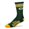 Green Bay Packers Team Color Duster Socks LARGE