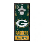 "Green Bay Packers Bottle Opener Sign 5""x11"""