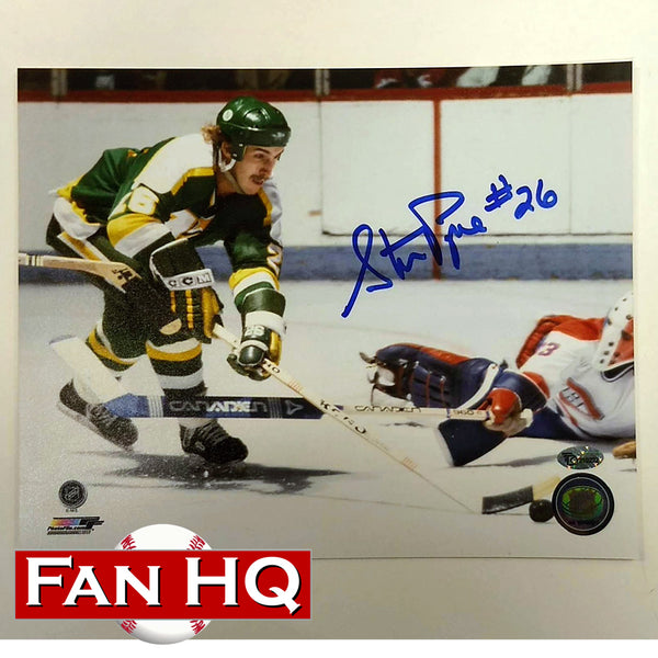 Steve Payne Autographed Minnesota North Stars 8x10 Photo #26