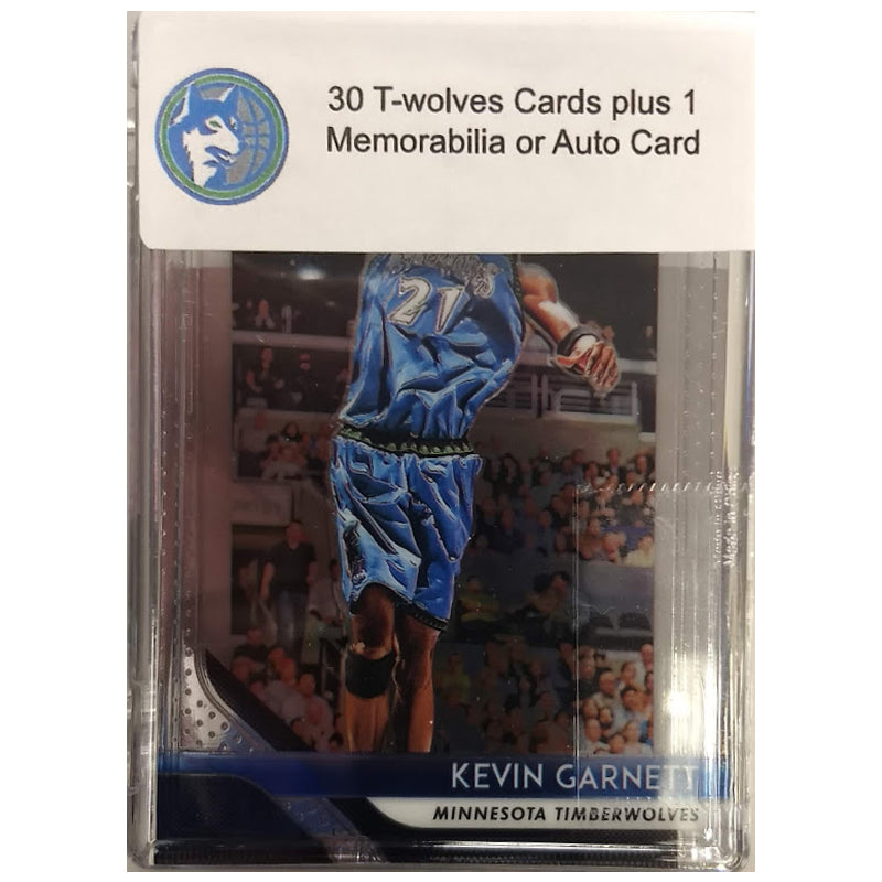 Minnesota Timberwolves 30 Basketball Card Mystery Box w/ 1 Autograph or Memorabilia Card