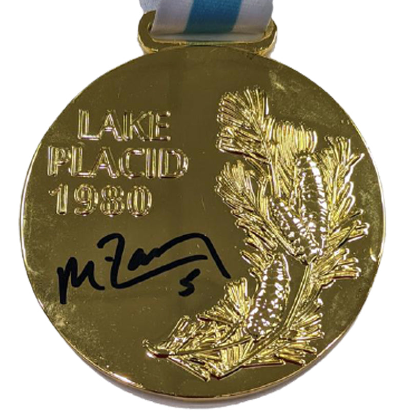 Mike Ramsey Autographed Replica 1980 Gold Medal