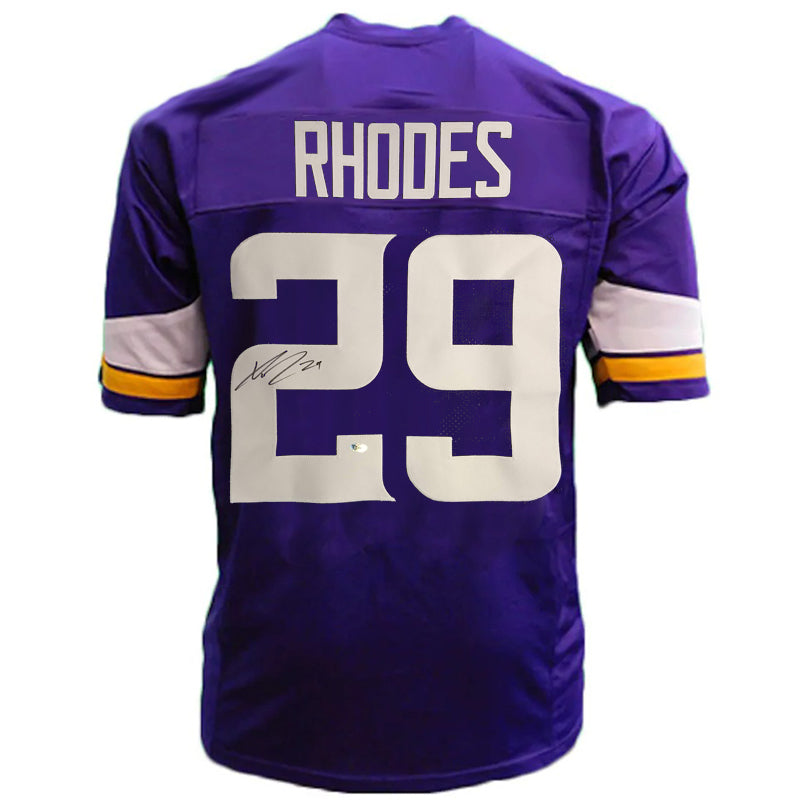 Xavier Rhodes Autographed Purple Pro-Style Jersey
