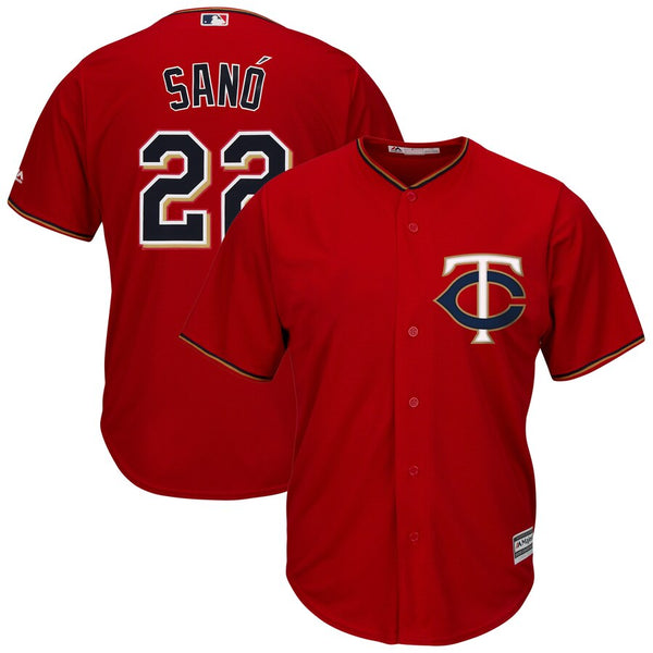 Miguel Sano Minnesota Twins Majestic Red Home Alternate Jersey