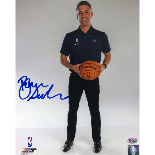 Ryan Saunders Minnesota Timberwolves Autographed 8x10 Ball Photo