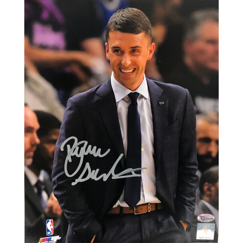 Ryan Saunders Minnesota Timberwolves Autographed 8x10 Suit Photo
