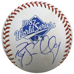 Roy Smalley Autographed 1987 World Series Baseball Minnesota Twins