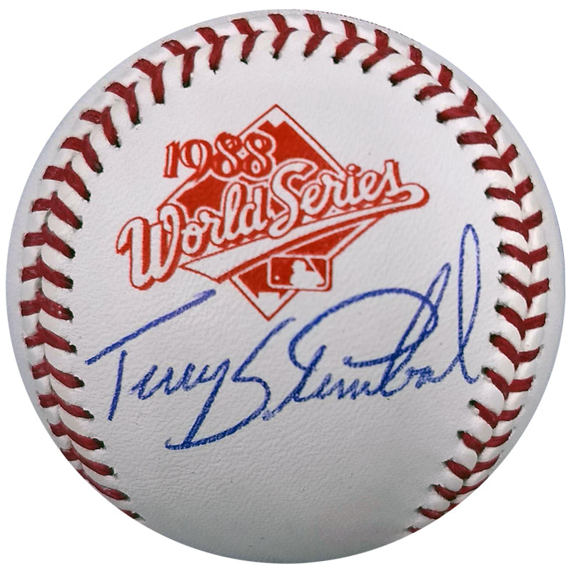 Terry Steinbach Autographed 1988 World Series OMLB Baseball Oakland Athletics