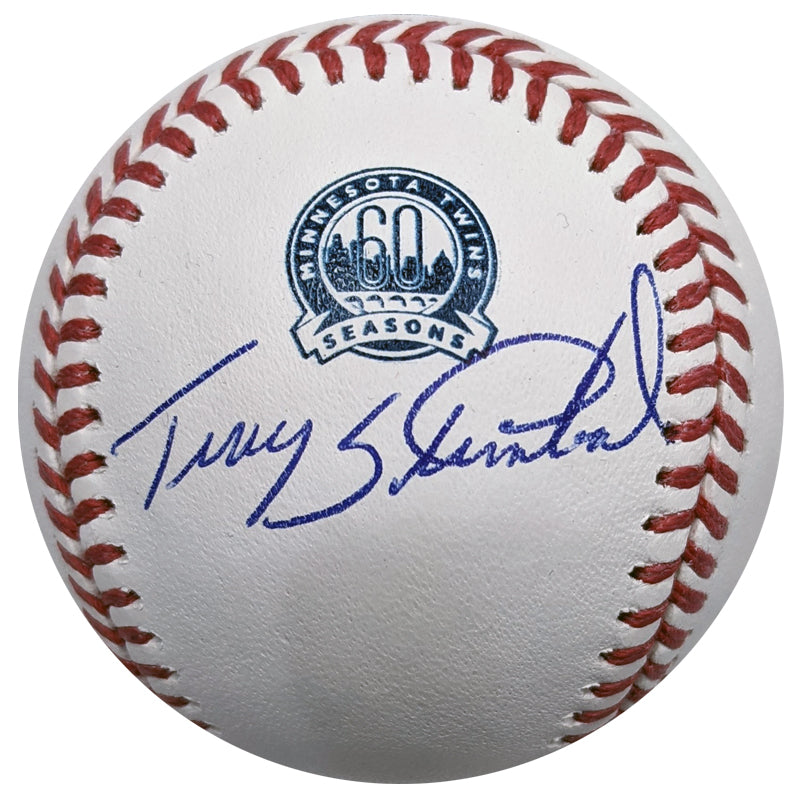 PRE-ORDER Terry Steinbach Autographed Minnesota Twins 60th Season Baseball