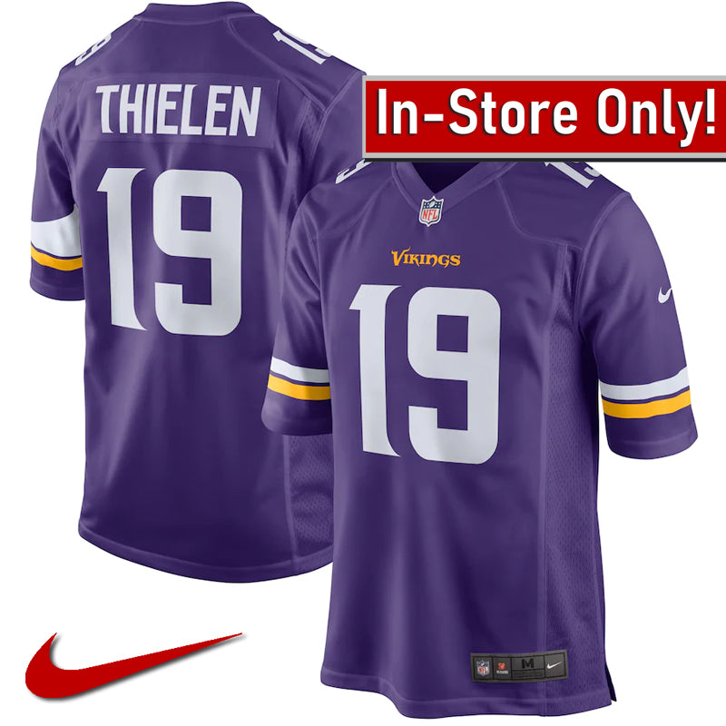 AVAILABLE IN-STORE ONLY! Adam Thielen Minnesota Vikings Purple Nike Game Jersey