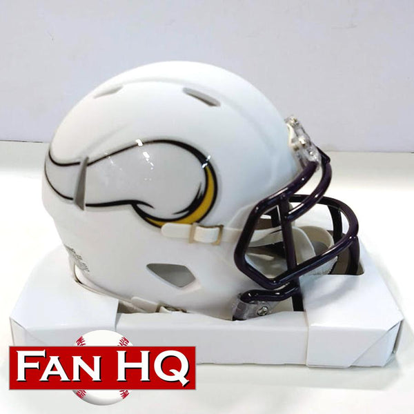 PRE-ORDER: Chuck Foreman Autographed Vikings White Matte Mini Helmet (With or Without Inscription)