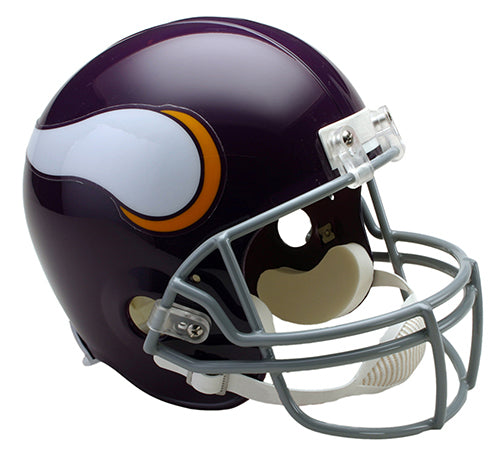 PRE-ORDER: Chuck Foreman Autographed Vikings Full Size Replica Throwback Helmet (With or Without Inscription)