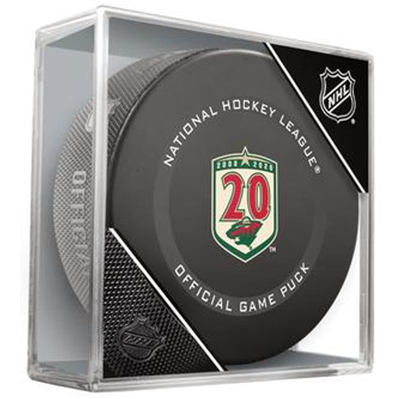 Minnesota Wild 2020-21 20th Season Official NHL Game Hockey Puck w/ Case