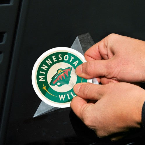 "Minnesota Wild 2-pack 4"" x 4"" Perfect Cut Color Decals"