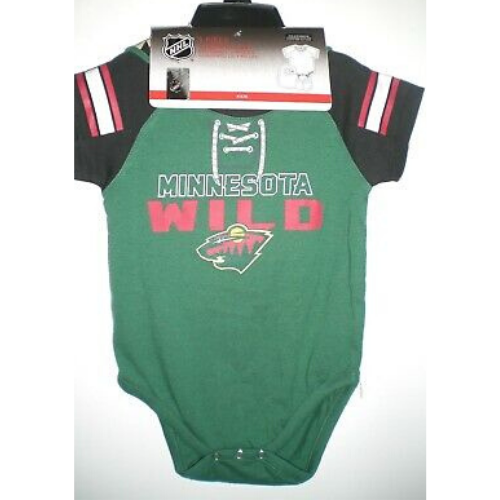 Minnesota Wild Infant 3-piece Bib/Bootie Creeper Set