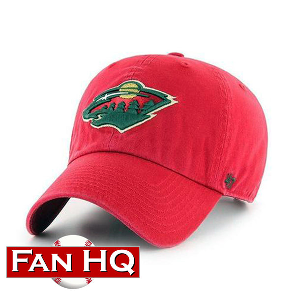 Minnesota Wild Red Logo '47 Clean Up Hat