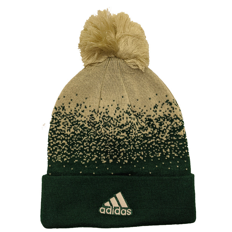 Minnesota Wild adidas Green Color Fade Cuffed Knit Hat w/ Pom