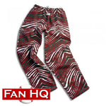 Zubaz Green/Red Zebra Pants - Minnesota Wild colors!