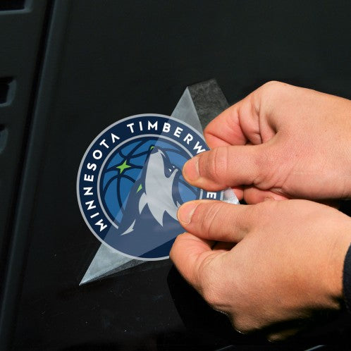 "Minnesota Timberwolves 2-pack 4"" x 4"" Perfect Cut Color Decals"