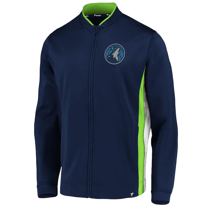 Minnesota Timberwolves Navy Fanatics Exclusive Mock Neck Full-Zip Jacket
