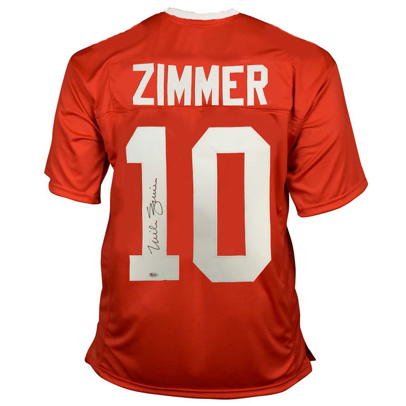 Mike Zimmer Autographed Red College Style Jersey Coach Zim