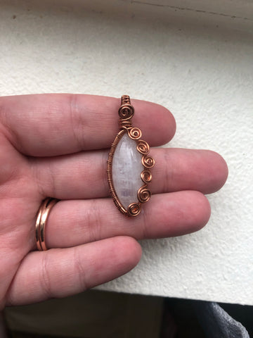 Swirly moonstone in copper