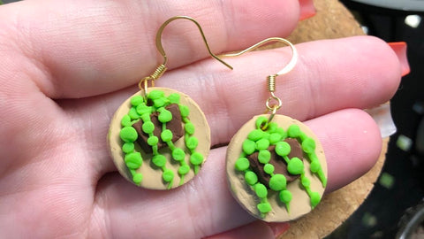 String of pearls earrings