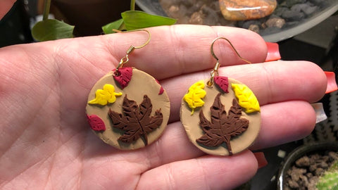 Fall leaves earrings