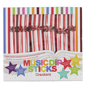 Thanksgiving Black Friday Music Challenge Christmas Crackers Candy Cane Stripe Table Decorations Party Favors