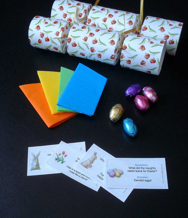 Mother's Day Tiny Tulips Easter Decorations for Table Party Favor Crackers - 4 LEFT