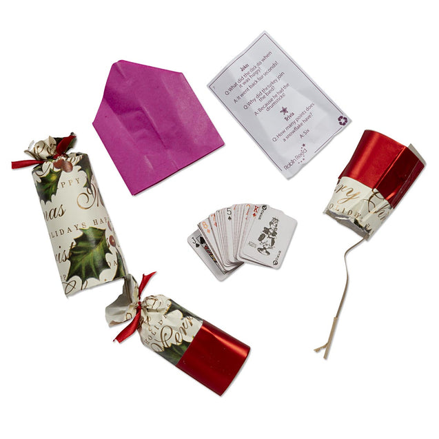 Bows And Berries Party Favor Popper Christmas Crackers