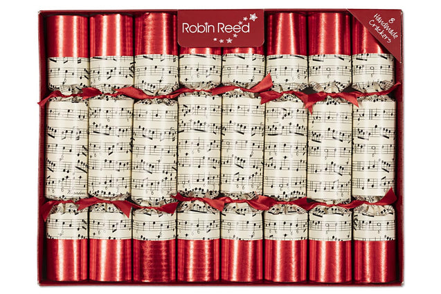 Musical Concerto Christmas Crackers Party Favor Popper Table Decorations