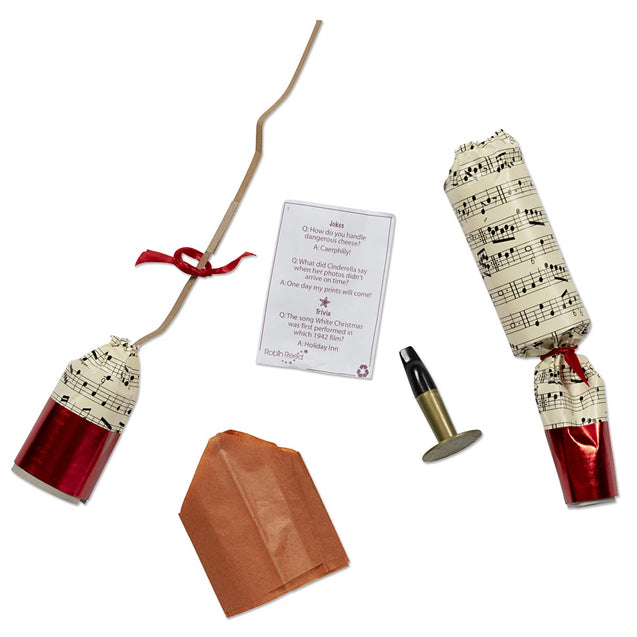 Musical Concerto Celebration Party Favor Popper Christmas Crackers