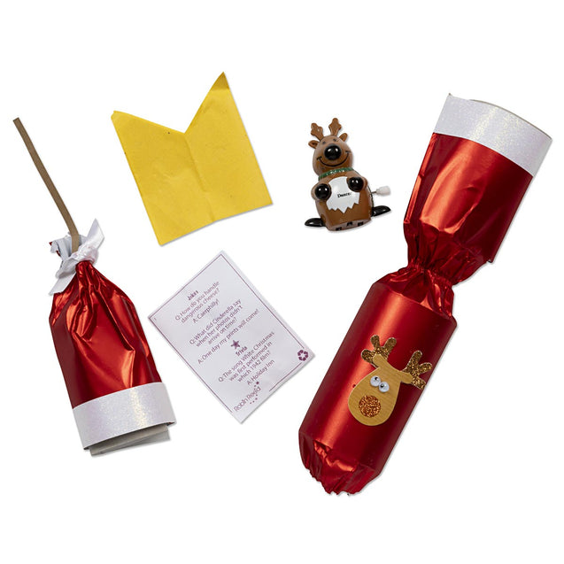 Racing Reindeer Party Favor Popper Christmas Crackers