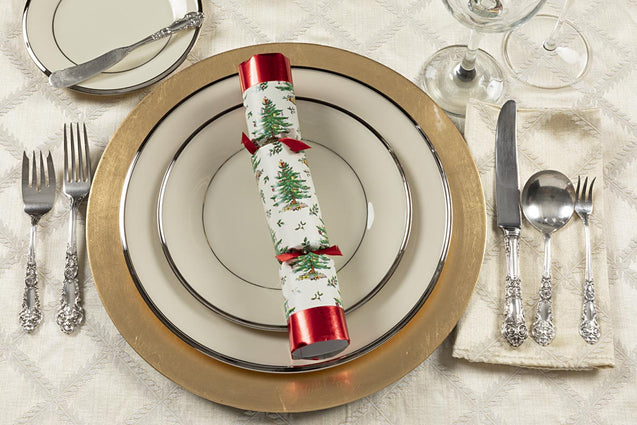 Yule Time Tree Spode Party Favor Popper Christmas Crackers
