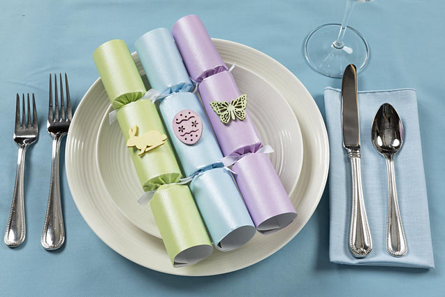 Pastel Easter Decorations for Table Party Favor Crackers for Easter Tree