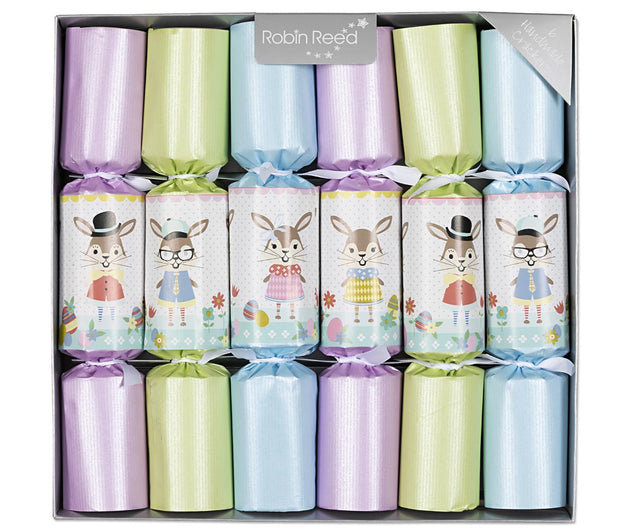 Racing Rabbits Easter Bunny Decorations for Table Party Favor Crackers