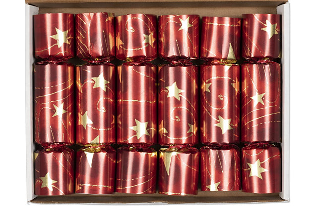 Christmas Crackers Gold Red Table Decorations Party Favor Poppers
