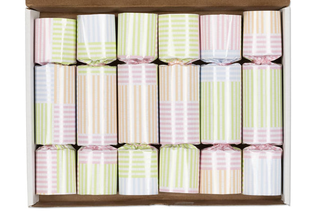 Christmas Crackers Easter Wedding Bridal Baby Shower Decorations for Table Party Favor Pastel Stripe (6)