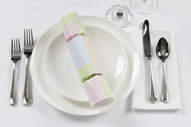 Spring Pastel Stripe Baby Shower Decorations for Table Party Favor Crackers