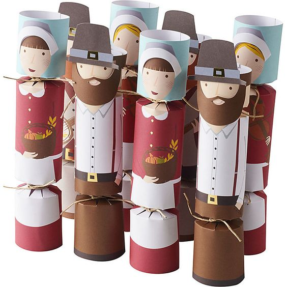 Thanksgiving Decorations Party Favors Pilgrims Thanks Popper Christmas Crackers