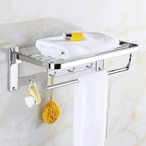Stainless Steel Folding Towel Rack - Primecrave