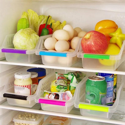 Fridge Space Saver Food Storage Organizer Basket Rack - Primecrave