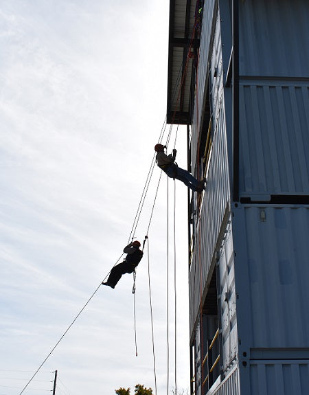 Tower Rescue Training Drill and Rappelling