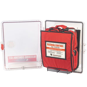 clear polycarbonate case that holds the bleeding kit